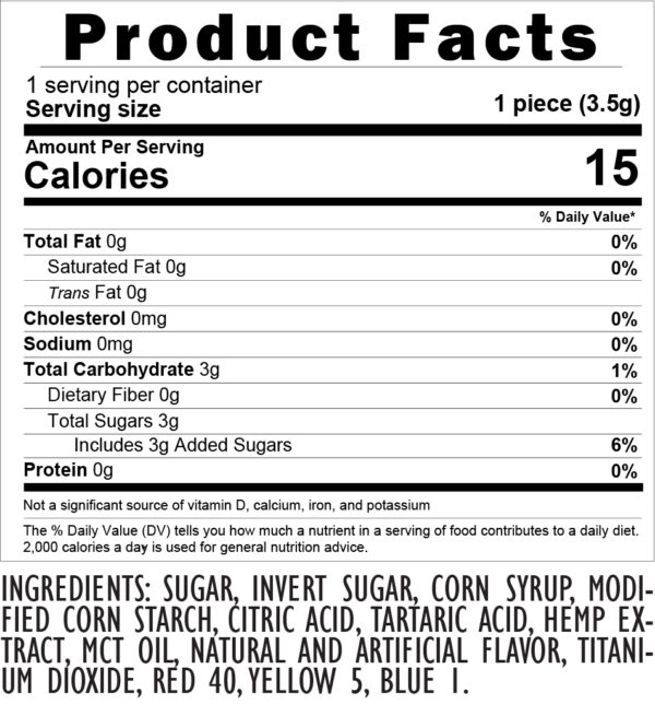 10 DC Watermelon gummies Product facts and Ingredients
